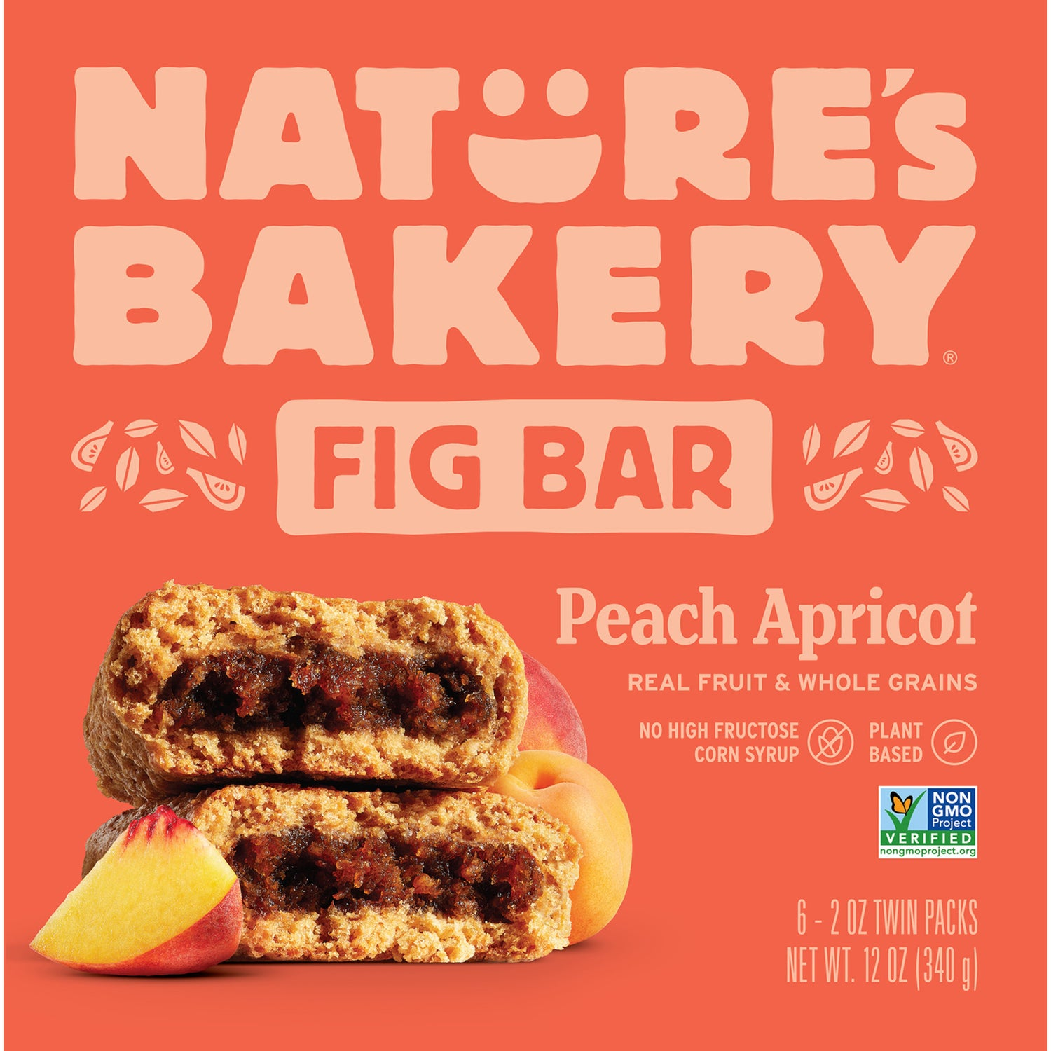 Nature's Bakery Peach Apricot Fig Bar (Whole Wheat), 6 x 57g.[Expiry: Nov 2020]