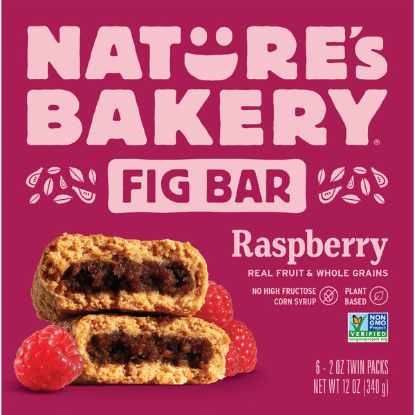 Nature's Bakery Raspberry Fig Bar (Whole Wheat), 6 x 57g.