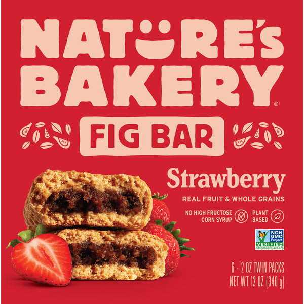 Nature's Bakery Strawberry Fig Bar (Whole Wheat), 6 x 57g.