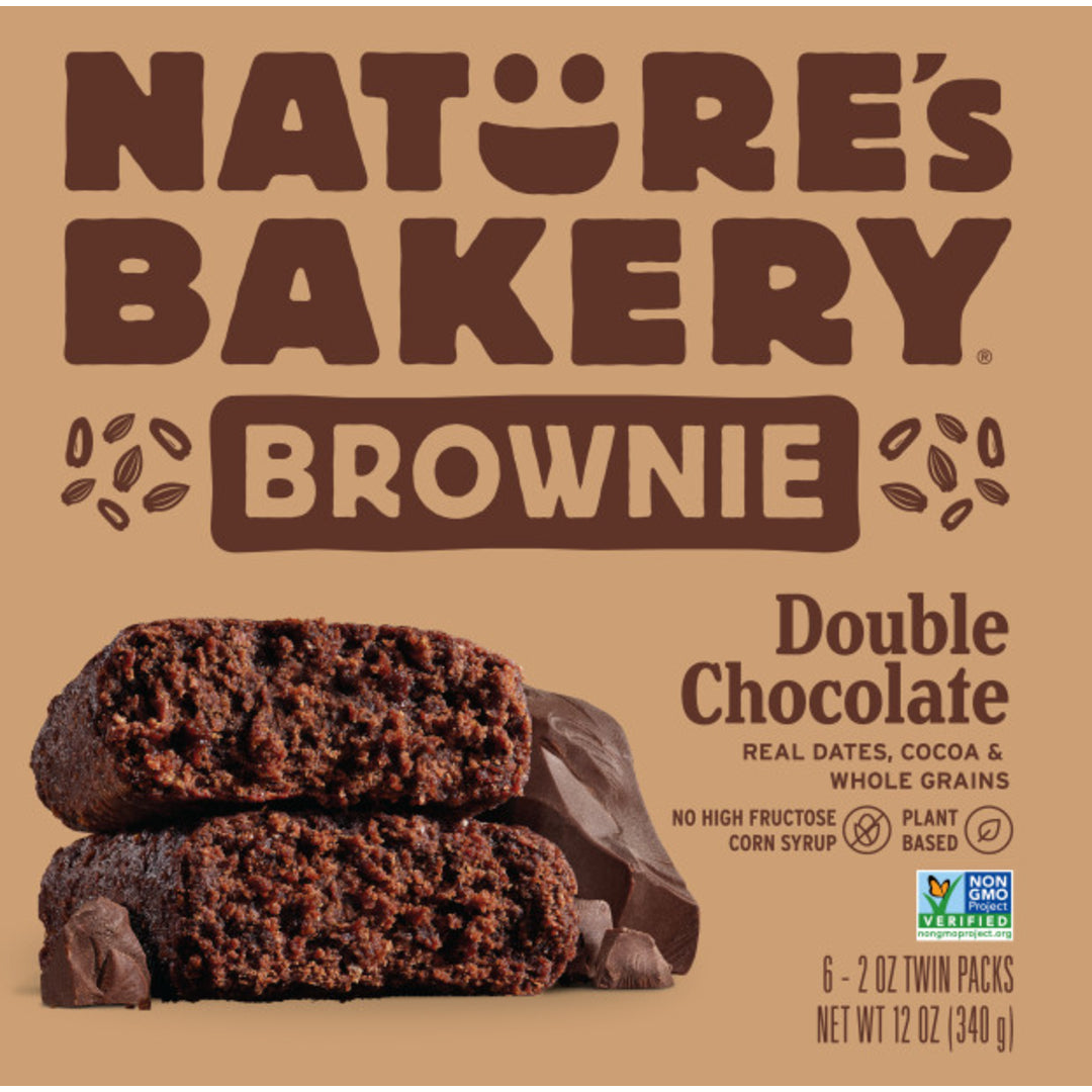 Nature's Bakery Double Chocolate Brownie Chocolate Bar (Whole Wheat), 6 x 57g.