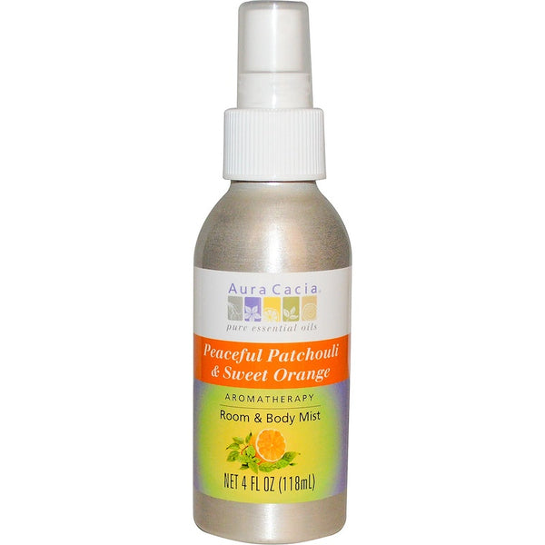 Aura Cacia Aromatherapy Mist: Patchouli/Sweet Orange, 118ml.