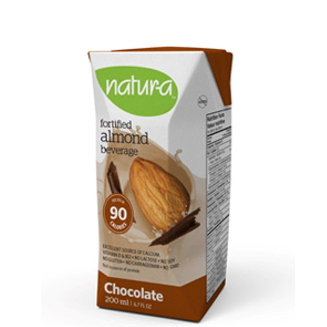 Natur-a Enriched Almond Beverage - Chocolate, 200 ml.-NaturesWisdom