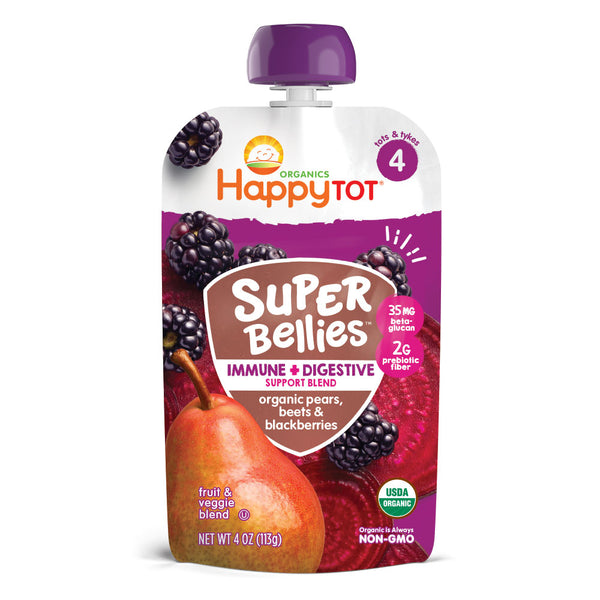 Happy Family Happy Tot Super Bellies- Pears, Beets & Blackberries, 113g.