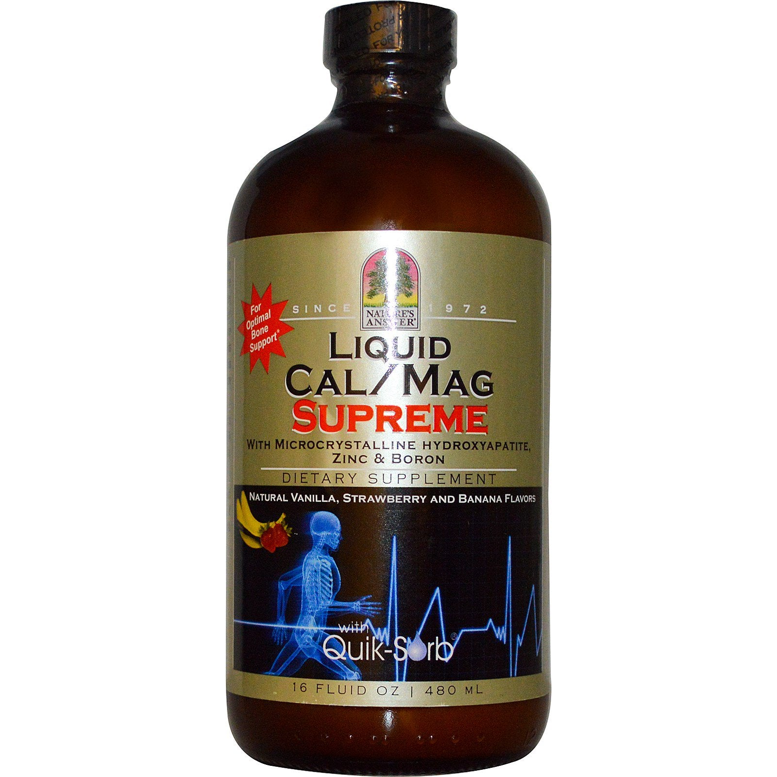 Nature's Answer Platinum Liquid Calcium & Magneisum w/Vit D, Zinc & Boron, 480 ml.-NaturesWisdom