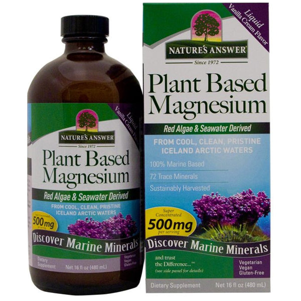 Nature's Answer Plant Based Magnesium 500mg, 480ml.