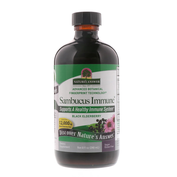 Nature's Answer Sambucus Black Elder Berry Extract (A/F) - Immune Support, 240 ml.