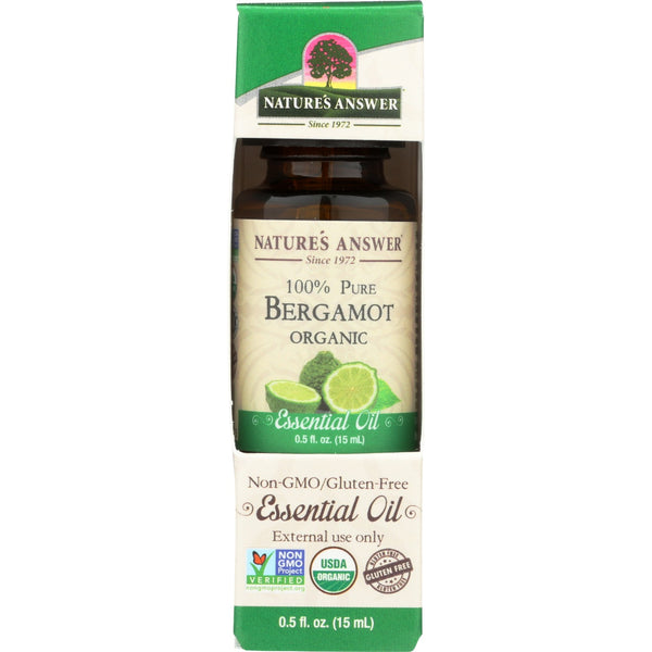 Nature's Answer Organic Essential Oil 100% Pure Bergamot, 15 ml.