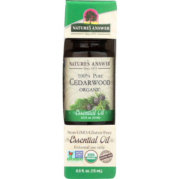 Nature's Answer Organic Essential Oil 100% Pure Cedarwood, 15 ml.
