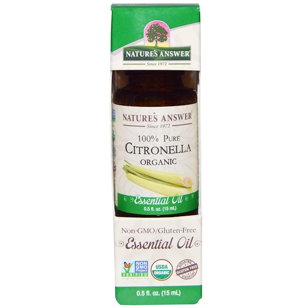 Nature's Answer Organic Essential Oil 100% Pure Citronella, 15 ml.