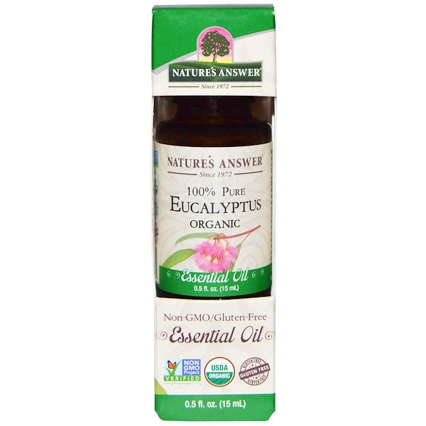 Nature's Answer Organic Essential Oil 100% Pure Eucalyptus, 15 ml.