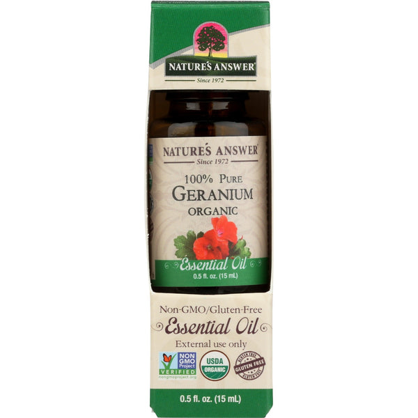 Nature's Answer Organic Essential Oil 100% Pure Geranium, 15 ml.