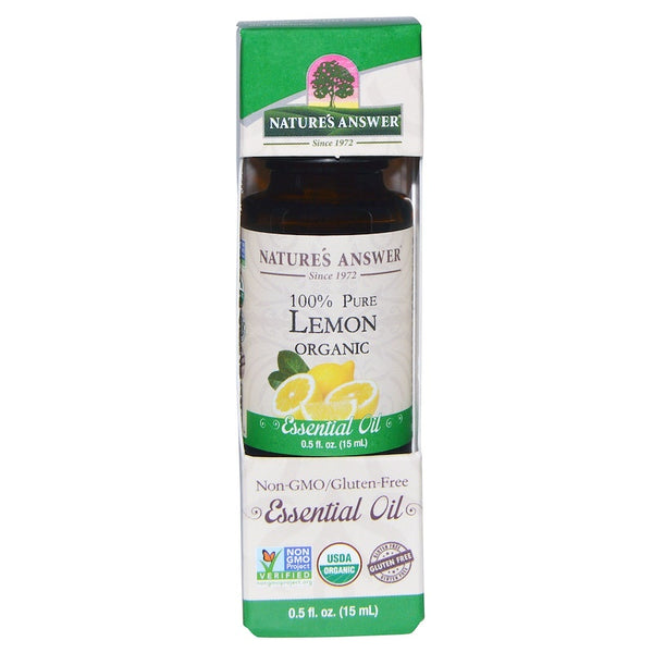 Nature's Answer Organic Essential Oil 100% Pure Lemon, 15 ml.