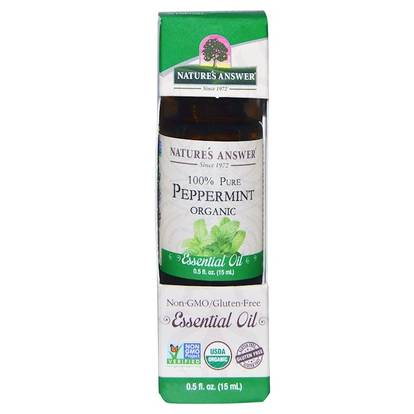 Nature's Answer Organic Essential Oil 100% Pure Peppermint, 15 ml.
