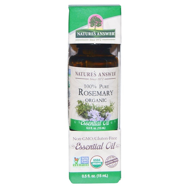 Nature's Answer Organic Essential Oil 100% Pure Rosemary, 15 ml.-NaturesWisdom