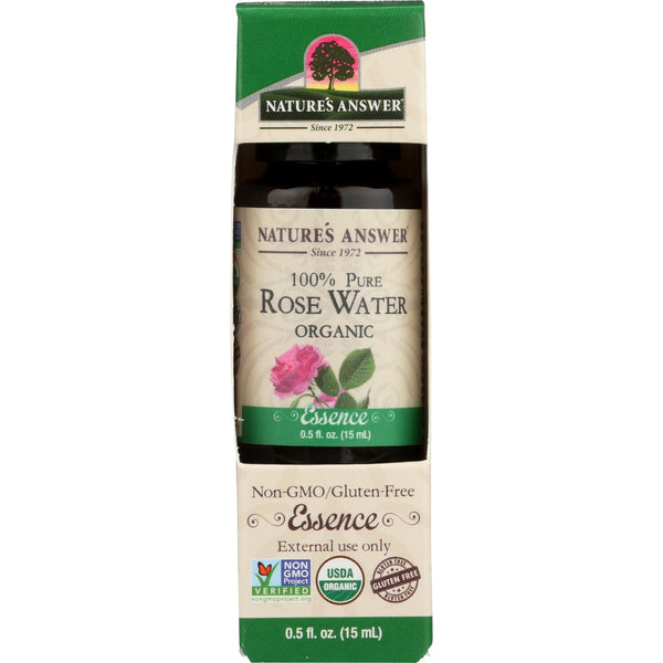 Nature's Answer Organic Essential Oil 100% Pure Rosewater, 15 ml.