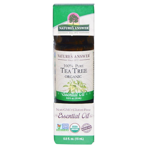Nature's Answer Organic Essential Oil 100% Pure Tea Tree, 15 ml.-NaturesWisdom