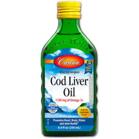 Carlson Norwegian Cod Liver Oil- Lemon, 250ml.-NaturesWisdom