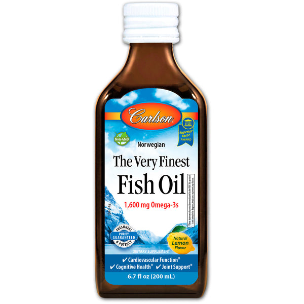 Carlson Labs Norwegian The Very Finest Fish Oil - Lemon, 200 ml.