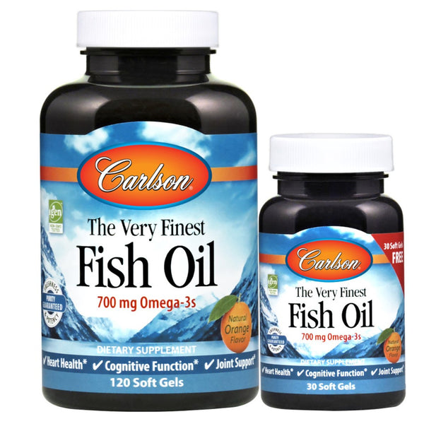 Carlson The Very Finest Fish Oil- Orange Flavor, 120sgls + Free 30sgls.