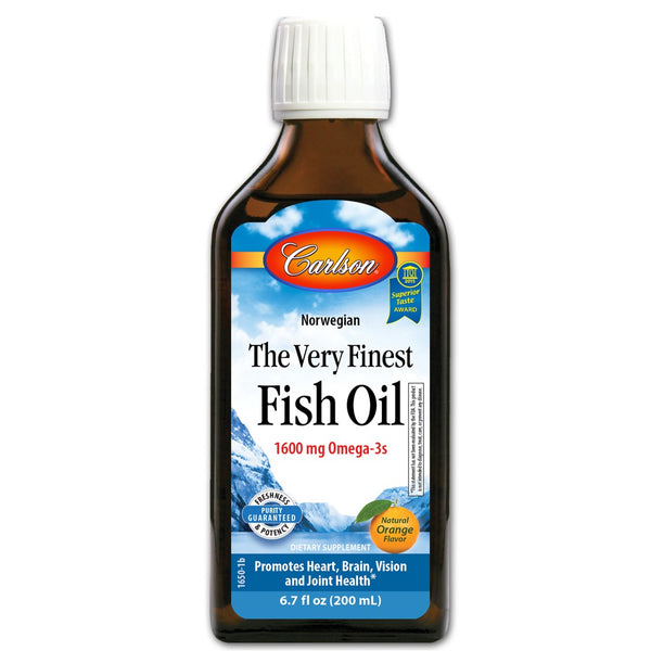 Carlson Labs Norwegian The Very Finest Fish Oil - Orange, 200 ml.