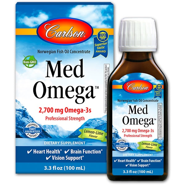 Carlson Labs Med Omega - Lemon-Lime, 100 ml.