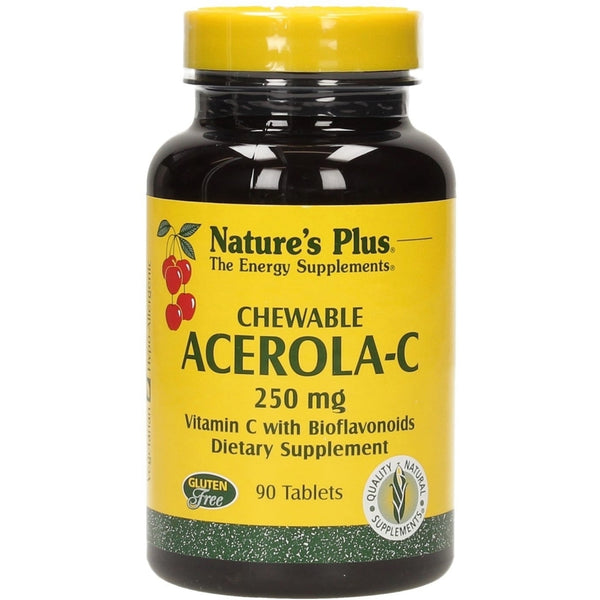 Natures Plus Acerola-C Complex Chewable 250 mg, 90 tabs.