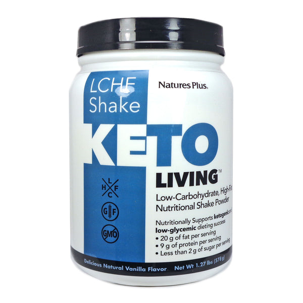 Natures Plus KetoLiving LCHF Vanilla Shake Powder, 675 g.