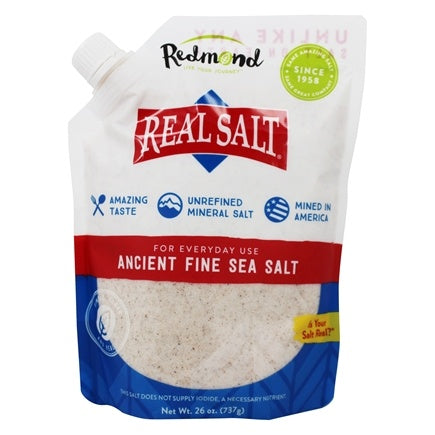 Redmond Real Salt All Natural Sea Salt Pouch (Resealable), 737 g.