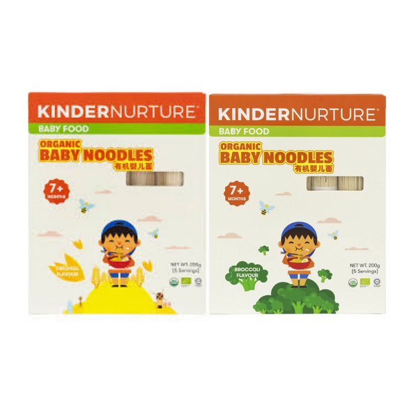 20% off [Bundle Deal] KinderNurture Organic Baby Noodles- Original Flavour + Broccoli Flavour .
