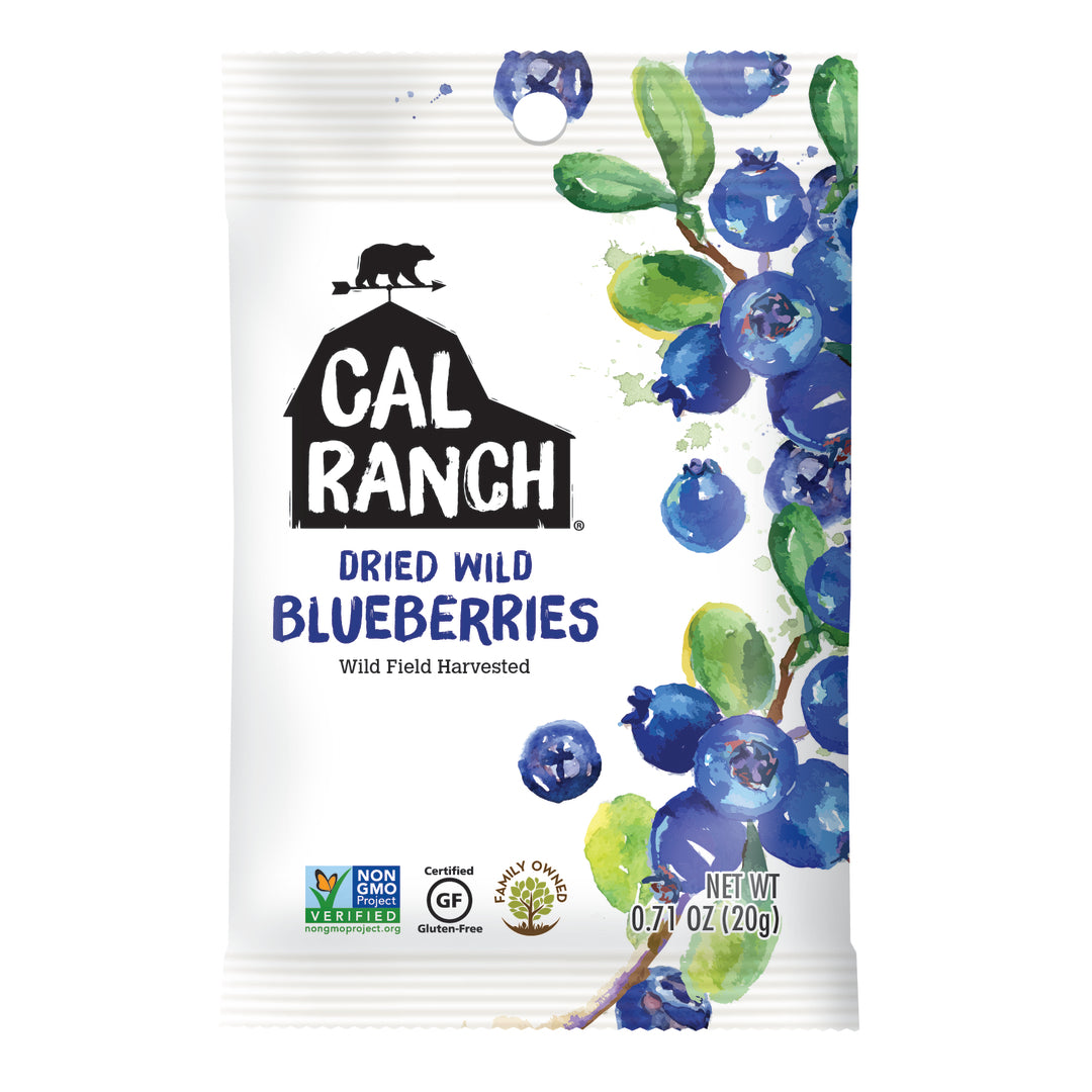 Cal Ranch Dried Wild Blueberries, 20g.
