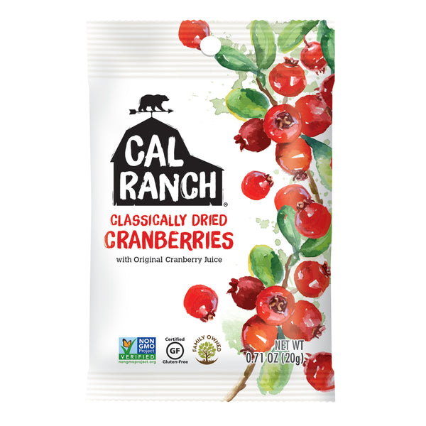 Cal Ranch Classically Dried Cranberries, 20g.