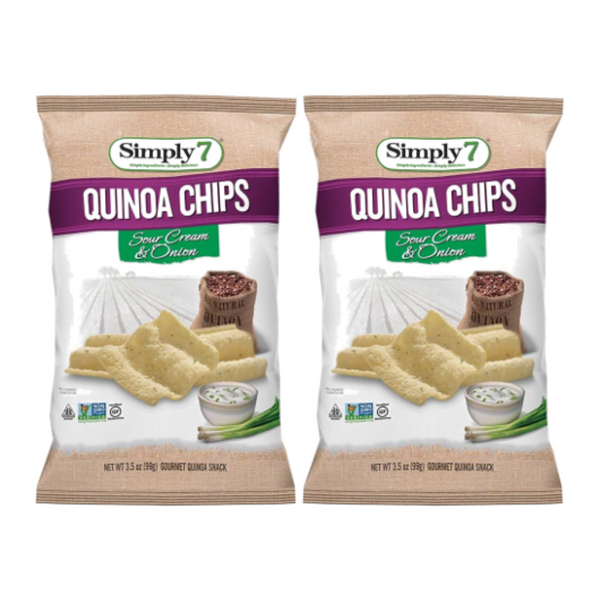 25% Off [Bundle of 2] Simply 7 Quinoa Chips - Sour Cream & Onion, 99 g