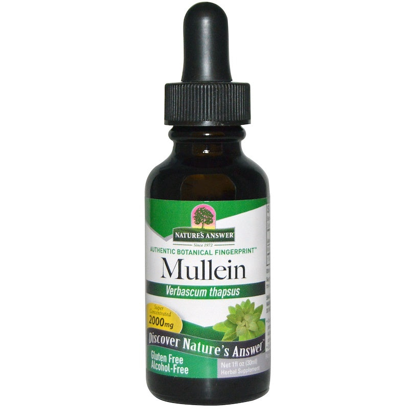 Nature's Answer Mullein Leaf Alcohol-Free, 30 ml.