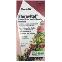 Salus Haus Floradix Floravital Liquid Iron Supplement (Yeast/Gluten Free), 500 ml-NaturesWisdom