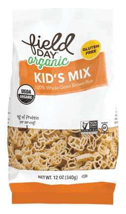 Field Day Organic Brown Rice Kid's Mix Pasta, 340 g.