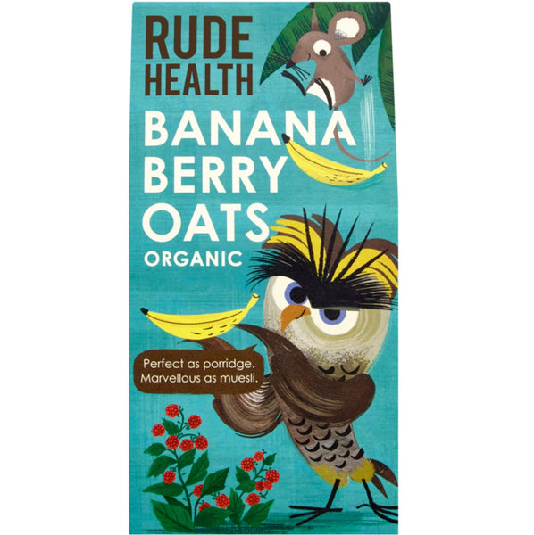 Rude Health Organic Banana Berry Oats, 350g