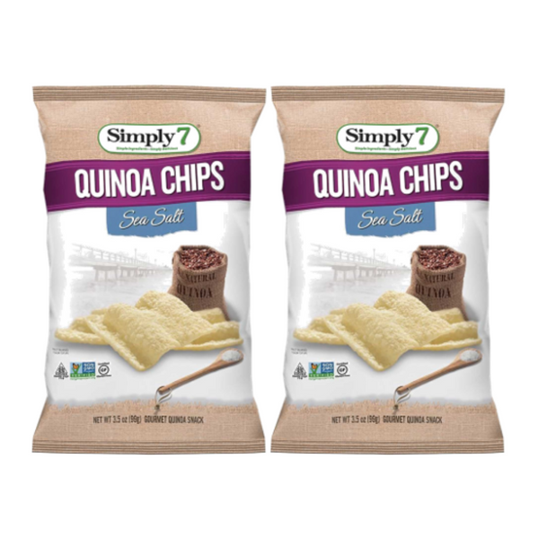 25% Off [Bundle of 2] Simply 7 Quinoa Chips - Sea Salt, 99 g