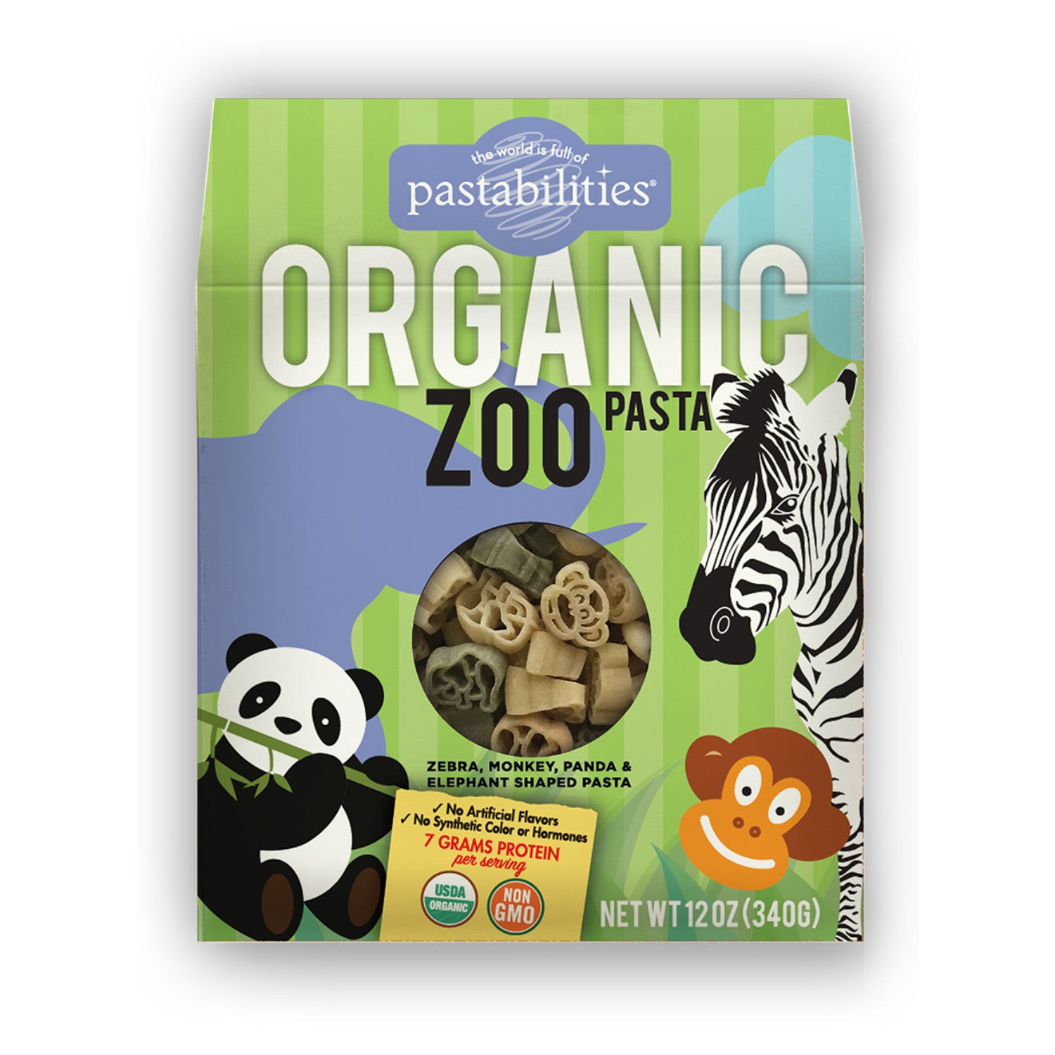 Pastabilities Organic Zoo Shaped Pasta, 340g-NaturesWisdom