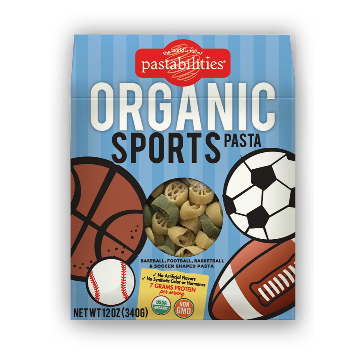 Pastabilities Organic Pasta - Sports Shaped, 340g-NaturesWisdom