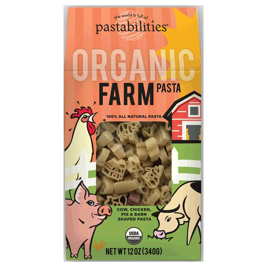Pastabilities Organic Farm Shaped Pasta, 340g-NaturesWisdom