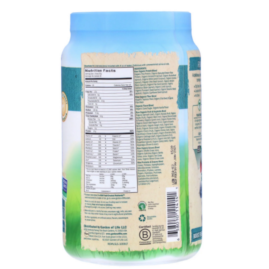 Garden Of Life, Vanilla Flavored RAW Organic Meal Shake & Meal Replacement Powder , 484 g.