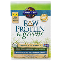 Garden of Life RAW Organic Protein & Greens - Lightly Sweet, 31 g (Comes in 10 pkts)-NaturesWisdom