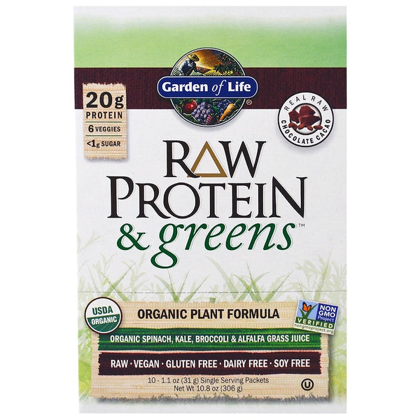 Garden of Life RAW Organic Protein & Greens - Chocolate, 31 g