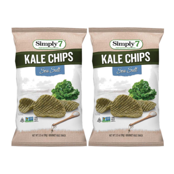25% Off [Bundle of 2] Simply 7 Kale Chips - Sea Salt, 99g.