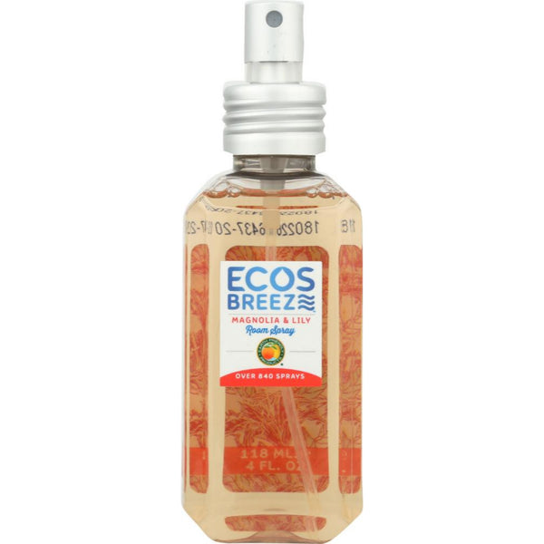 Earth Friendly ECOSBreeze™ Room Spray Magnolia & Lily, 118 ml.