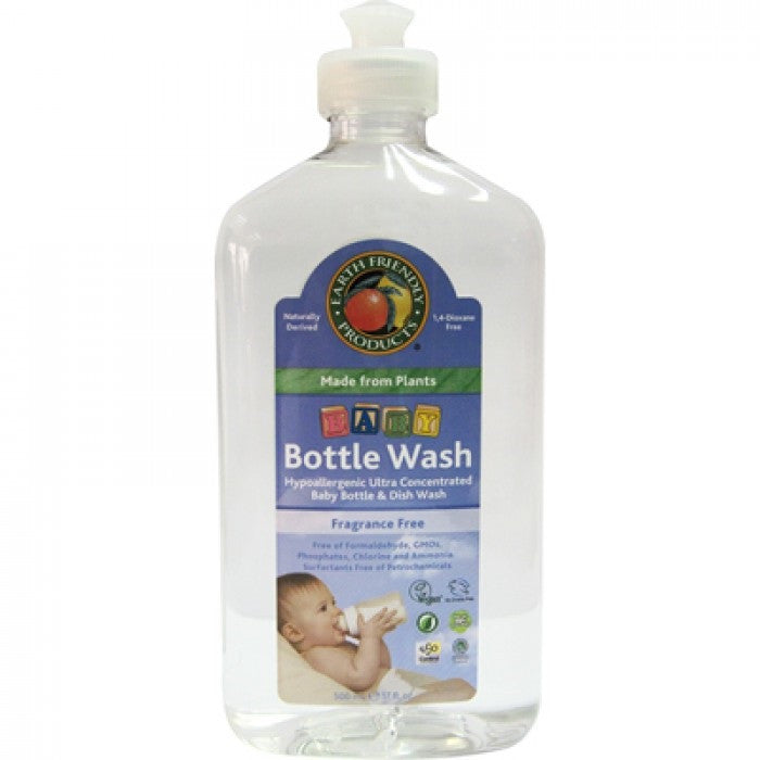 Earth Friendly Baby Bottle Wash, 500ml.-NaturesWisdom