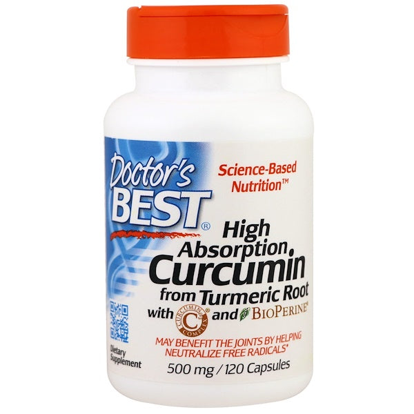 Doctor's Best Curcumin High Absorption 500 mg, 120 caps