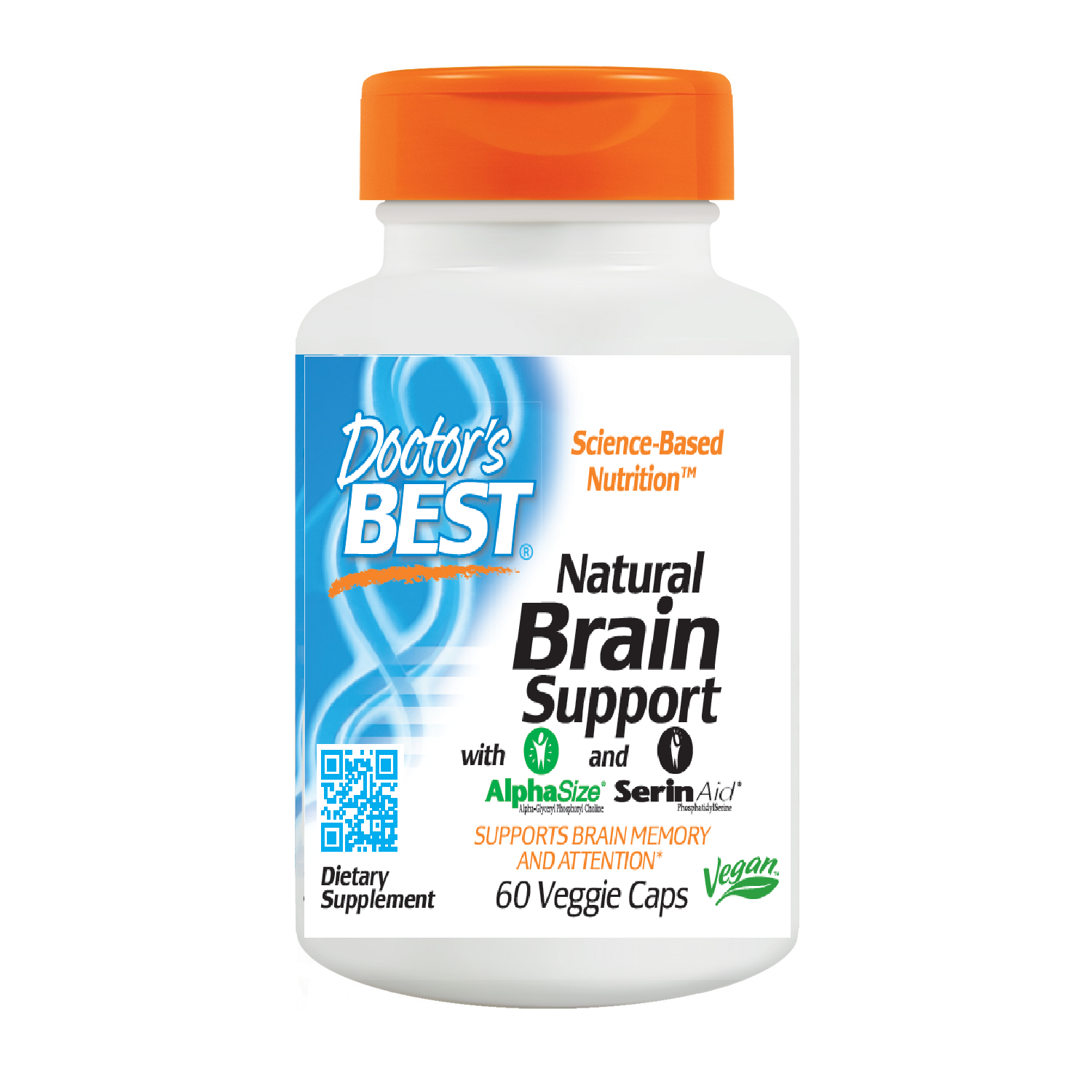 Doctor's Best Natural Brain Support, 60 vcaps