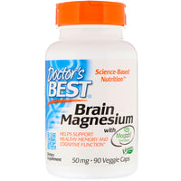 Doctor's Best Brain Magnesium with Magtein 50 mg, 90 vcaps-NaturesWisdom