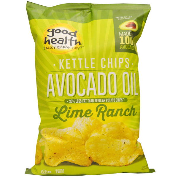 Good Health Kettle Avocado Oil Potato Chips - Chilean Lime, 142g.